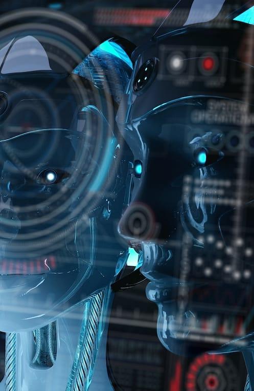 Robot heads - the brains behind AI & ML